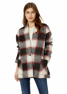 Pendleton Women's Collarless Plaid Coat  XS