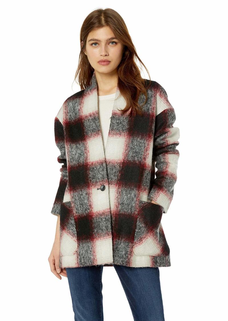 Pendleton Women's Collarless Plaid Coat  XS