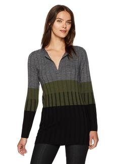 Pendleton Women's Colorblock Merino Wool Pullover Tunic  M