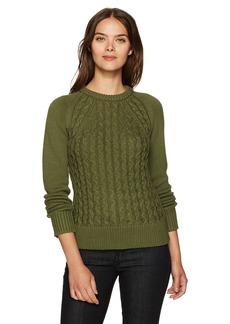 Pendleton Women's Contrast Cable Cotton/Cashmere Sweater  L