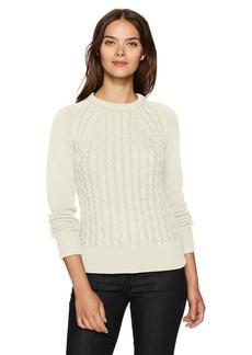 Pendleton Women's Contrast Cable Cotton/Cashmere Sweater  M