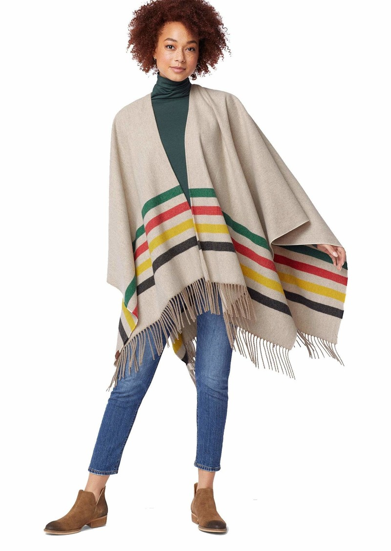 Pendleton Women's Cozy Shawl glacier stripe