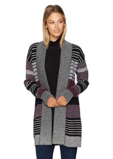 Pendleton Women's Cozy Stripe Wool/Alpaca Cardigan Sweater  S