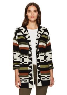 Pendleton Women's Desert Stripe Merino Wool Cardigan Sweater  M