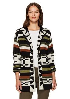 Pendleton Women's Desert Stripe Merino Wool Cardigan Sweater  XS