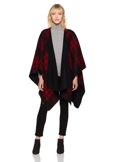 Pendleton Women's Double Sided Shawl red/Black Plaid