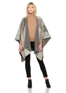 Pendleton Women's Double Sided Shawl tan/buff check
