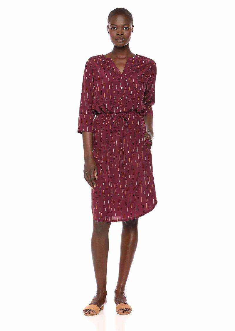 Pendleton Women's Drawstring Waist Silk Dress fig Arrow Print XXS