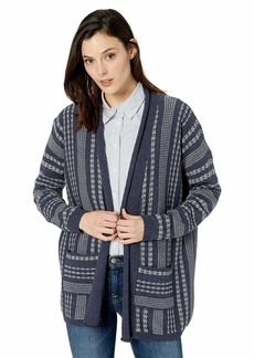 Pendleton Women's Drop Shoulder Stripe Cardigan Sweater  XXS