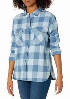 Pendleton Women's Elbow Patch Cotton Flannel Shirt  MD