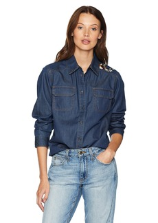 Pendleton Women's Embroidered Chambray Shirt  L