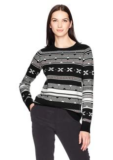 Pendleton Women's Fair Isle Merino Crew Neck Sweater  LG