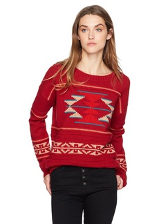Pendleton Women's Graphic Crew Neck Lambswool Pullover Sweater red/Multi XL