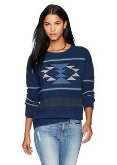 Pendleton Women's Graphic Crew Neck Lambswool Pullover Sweater  SM