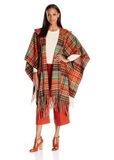 Pendleton Women's Hooded Blanket Shawl Smoky Mountains Park Plaid One Size