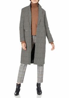 Pendleton Women's Hudson Long Coat black/Ivory Glen Plaid XS