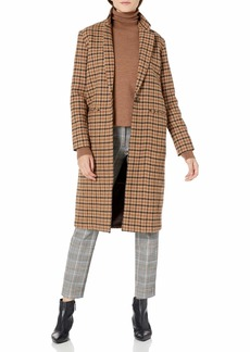 Pendleton Women's Hudson Long Coat tan Mix Multi Check MD