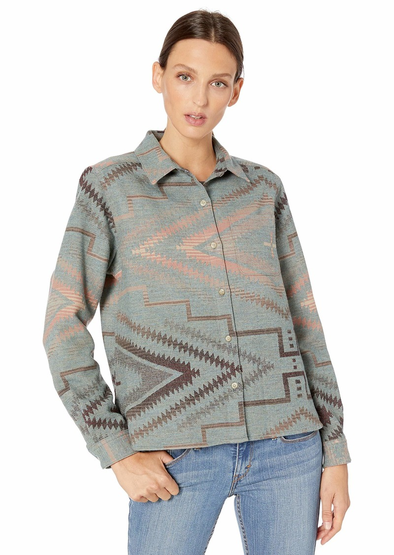 Pendleton Women's Jacquard Cropped Lodge Shirt Chalet Chic XXS