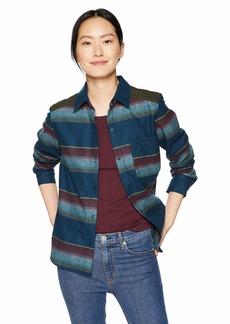 Pendleton Women's Lodge Wool Striped Shirt Blue XS