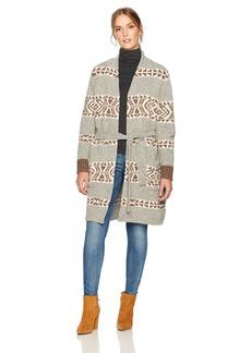Pendleton Women's Lodge Wrap Lambswool Cardigan Sweater  LG