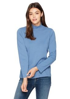 Pendleton Women's Long Sleeve Cotton Mockneck Rib Tee  XL