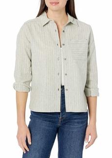 Pendleton Women's Long Sleeve Cropped Lodge Wool Shirt  SM