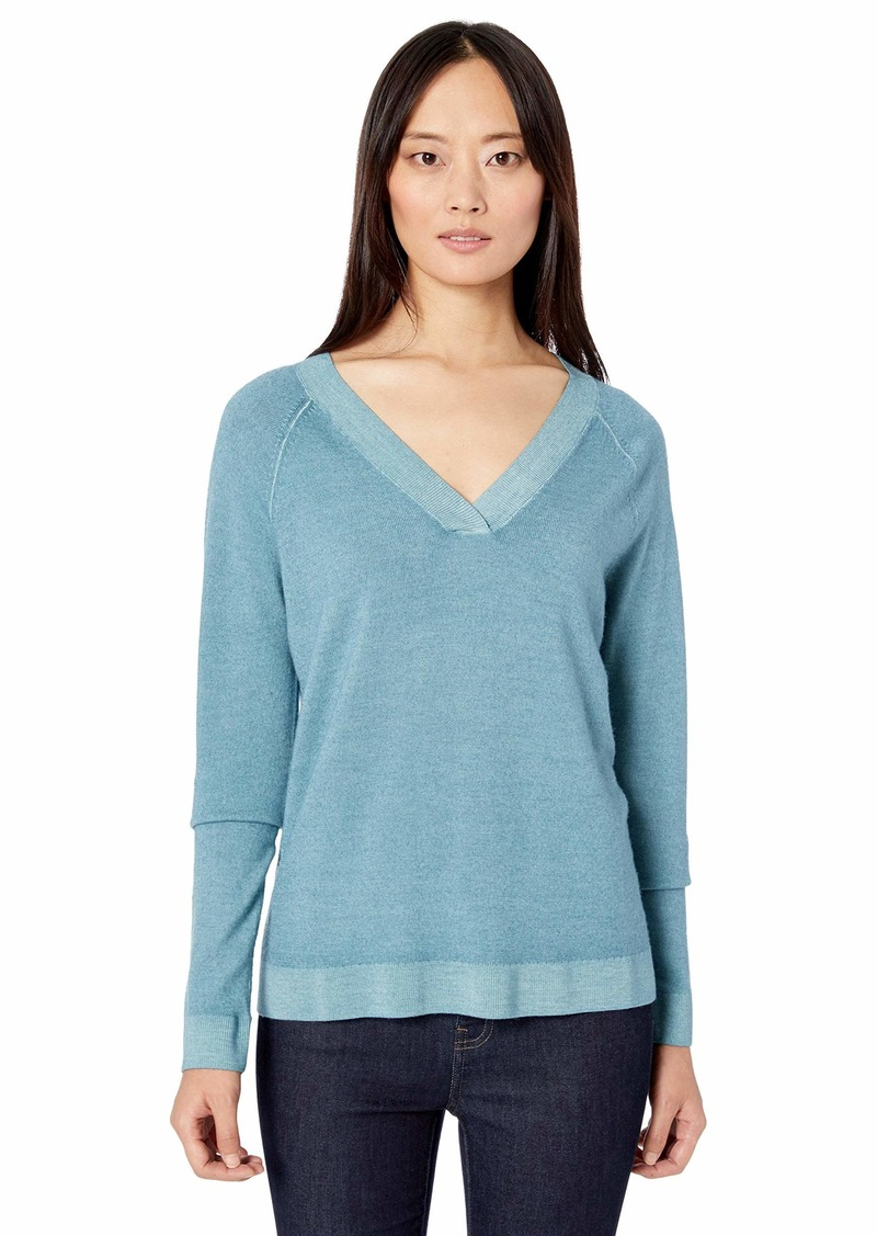 Pendleton Women's Long-Sleeve Magic Wash Merino V-Neck Sweater  SM