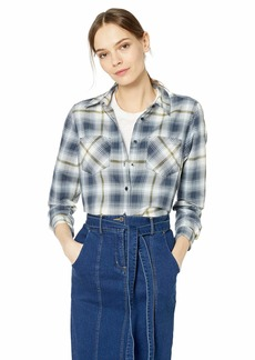 Pendleton Women's Long Sleeve Plaid Shirt Blue/Green SM