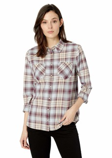 Pendleton Women's Long Sleeve Shirt fig/Taupe Plaid SM
