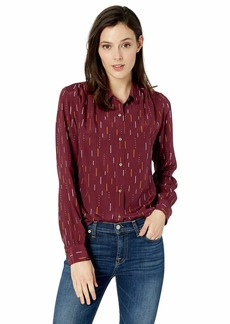 Pendleton Women's Long Sleeve Silk Shirt fig Arrow Print SM