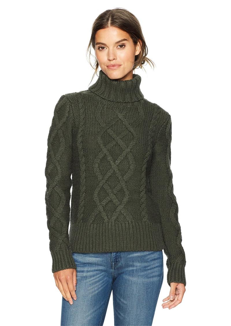 Pendleton Women's Luxe Cable Merino Alpaca Turtleneck Sweater  S