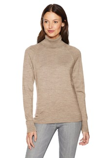 Pendleton Women's Merino Ribneck Turtleneck Sweater  S