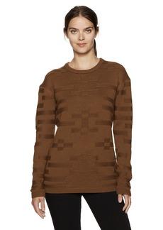Pendleton Women's Merino Tonal Textured Crew Sweater  L
