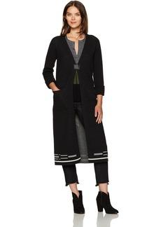 Pendleton Women's Merino Wool Ribbed Sleeve Pinyon Duster Sweater  L
