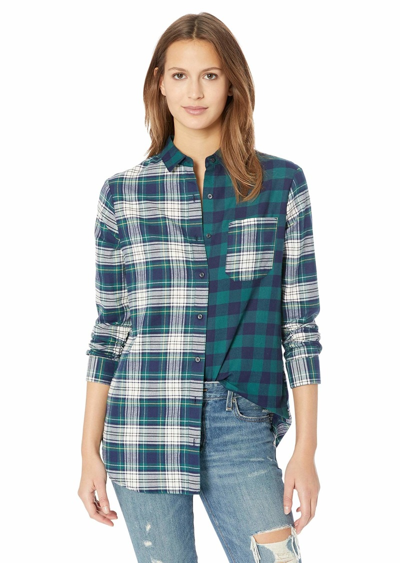 Pendleton Women's Mixed Plaid Flannel Shirt  LG