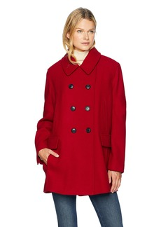 Pendleton Women's Pea Coat red
