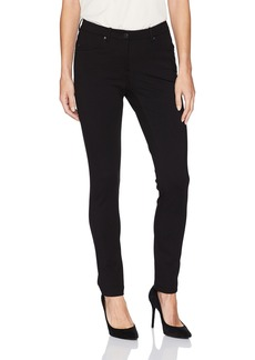 Pendleton Women's Petite Size Slim Knit Ponte Pants Black 10P