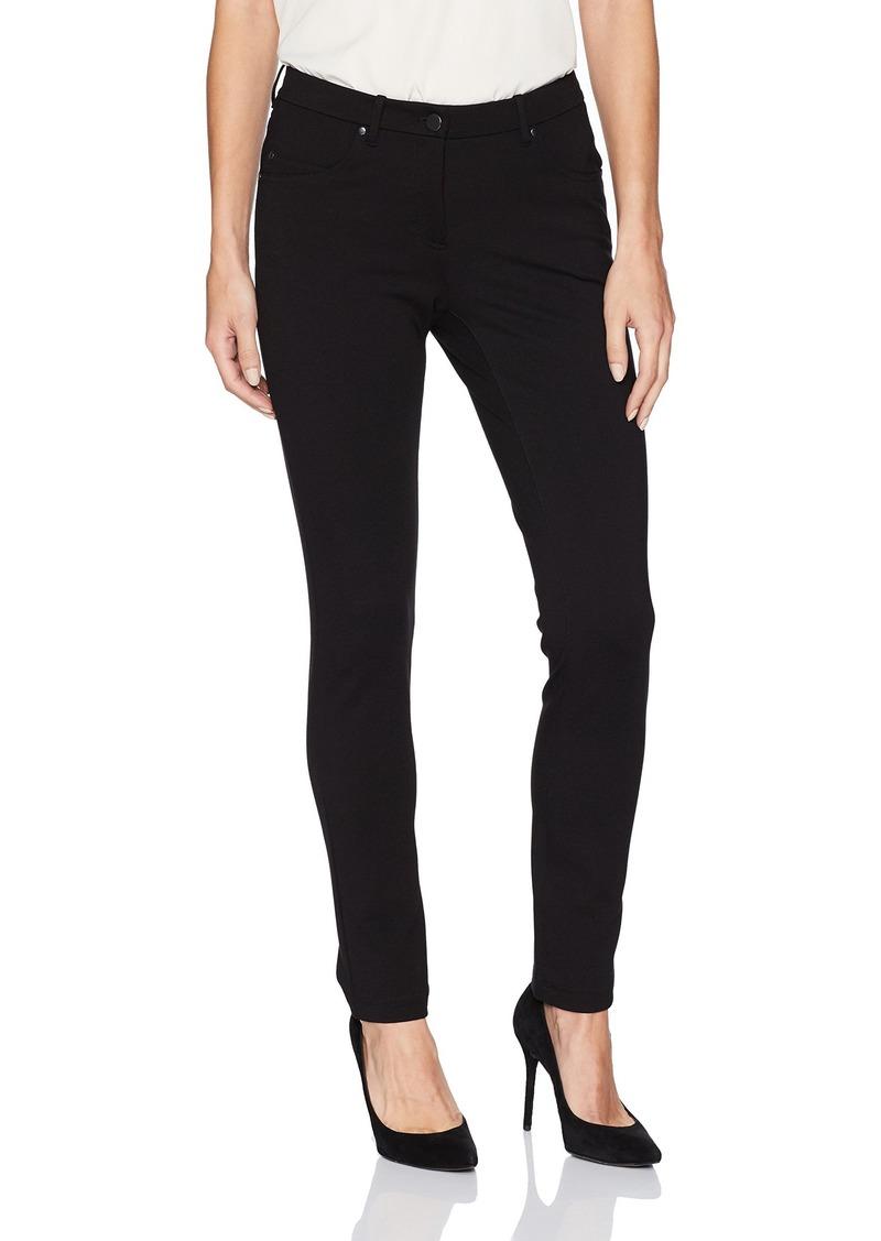 Pendleton Women's Petite Size Slim Knit Ponte Pants Black 10P