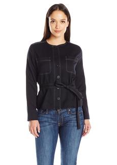 Pendleton Women's Petite Size Ultra 9 Stretch Dorset Jacket Black Worsted