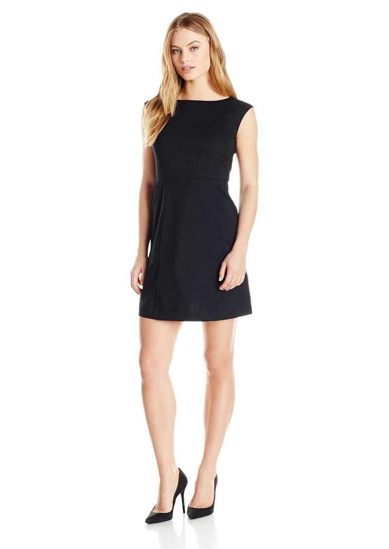 Pendleton Women's Petite Size Ultra 9 Stretch Harrow Dress Black Worsted