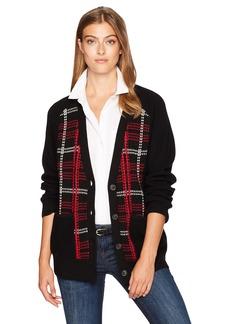 Pendleton Women's Plaid Merino Cardigan Sweater  SM