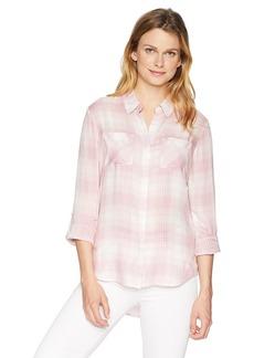 Pendleton Women's Plaid Roll Sleeve Soft Shirt  SM
