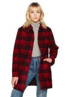 Pendleton Women's Plaid Wool Boucle Club Collar Coat  XS