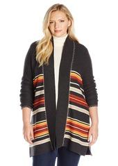 Pendleton Women's Plus Size Park Stripe Cardigan Sweater