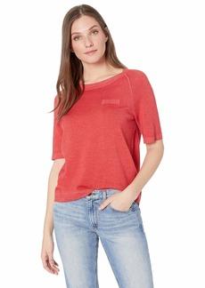 Pendleton Women's Raglan Magic Wash Merino Pullover Sweater Aurora red MD