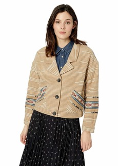 Pendleton Women's Reata Jacket tan Mix Border Jacquard LG