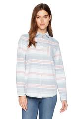 Pendleton Women's Reversible Serape Stripe Cotton Shirt  XXS