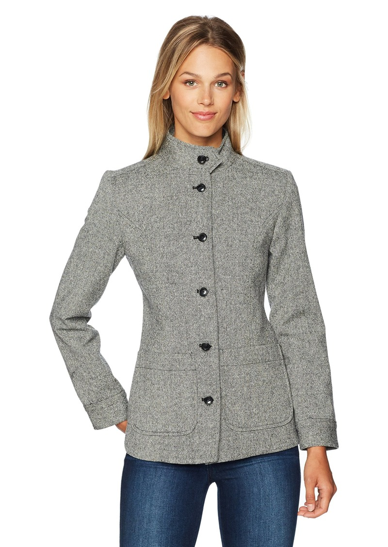 Pendleton Women's Richmond Donegal Wool Jacket Black/Ivory