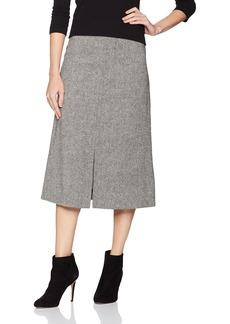 Pendleton Women's Richmond Donegal Wool Skirt Black/Ivory