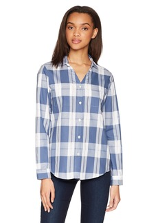 Pendleton Women's Rockaway Cotton Check Shirt Vintage Indigo LG